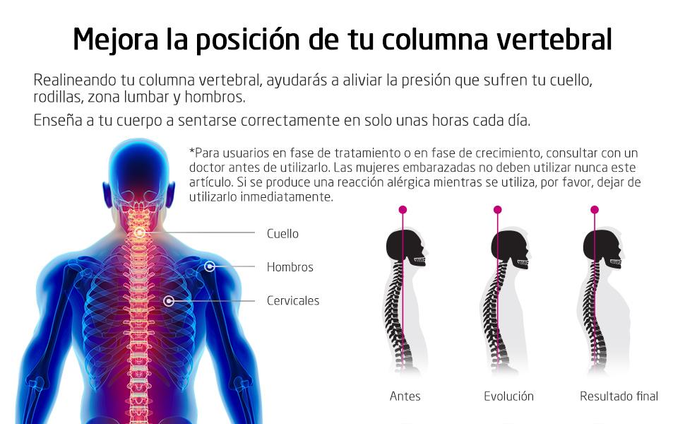 VOKKA Corrector de Postura, Corrector y Soporte para Columna ...