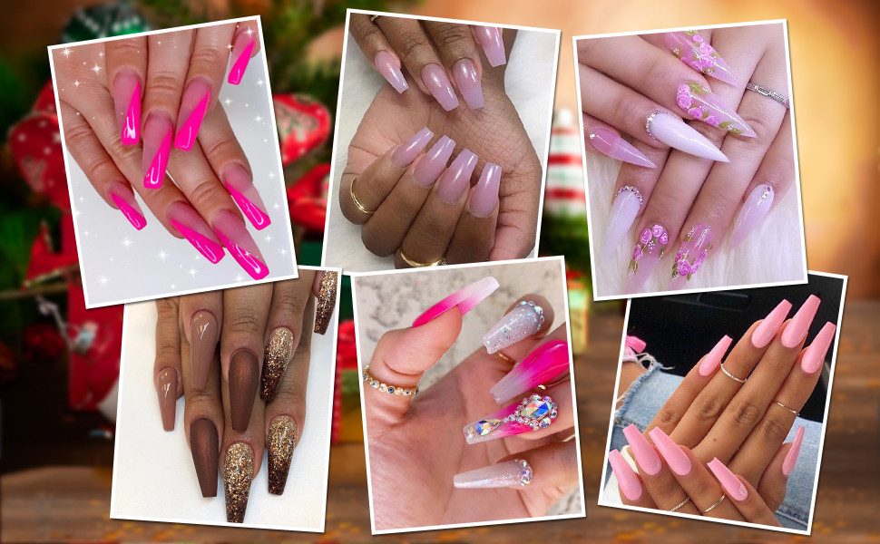 polygel nail art design