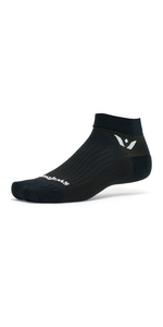 Swiftwick Performance One, Black Socks, ankle socks, running socks, golfing socks, black ankle socks