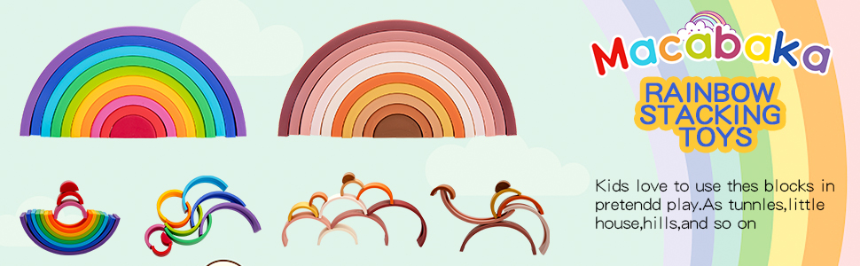 logo of rainbow stacking toy