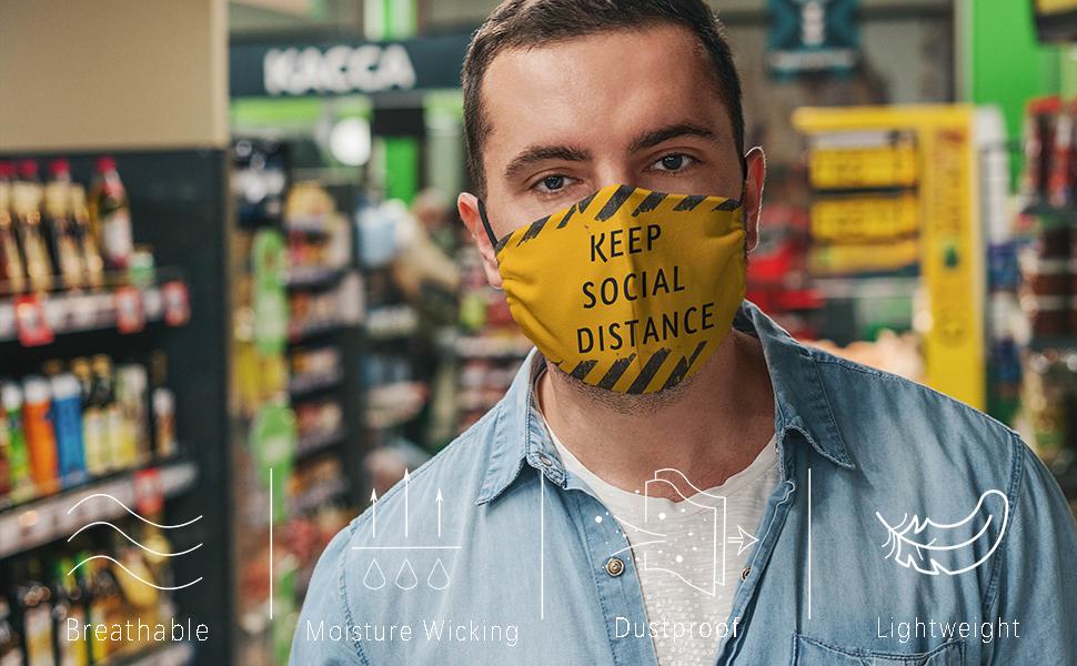 keep social distance face mask