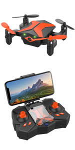 Mini Drones with Camera - Portable Foldable FPV Drone with Camera for Kids & Beginners