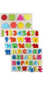 number alphabet shape puzzles