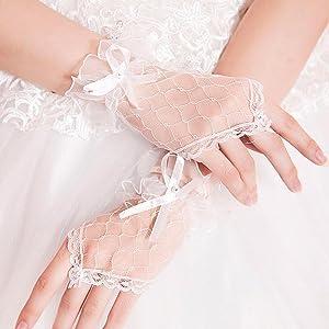 lace gloves for little girls short white gloves girls child gloves white special occasion