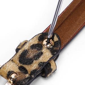 thin leopard print belt
