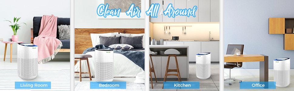 clean air all around  Amrobt Smart Wi-Fi Air Purifier for Home Large Room with True HEPA Filter.4-layer Filtration, Odor Eliminator for Allergies and Pets, Ionic & Sterilizer, Air Cleaner for Office & Home, Rid of Mold, Smoke, Odor. Works with Alexa 9adb309d 803b 44cb 871d e481688364c7