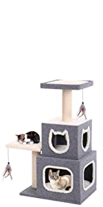 CozyCatFurniture Cat Condo Two Story for Big Cats
