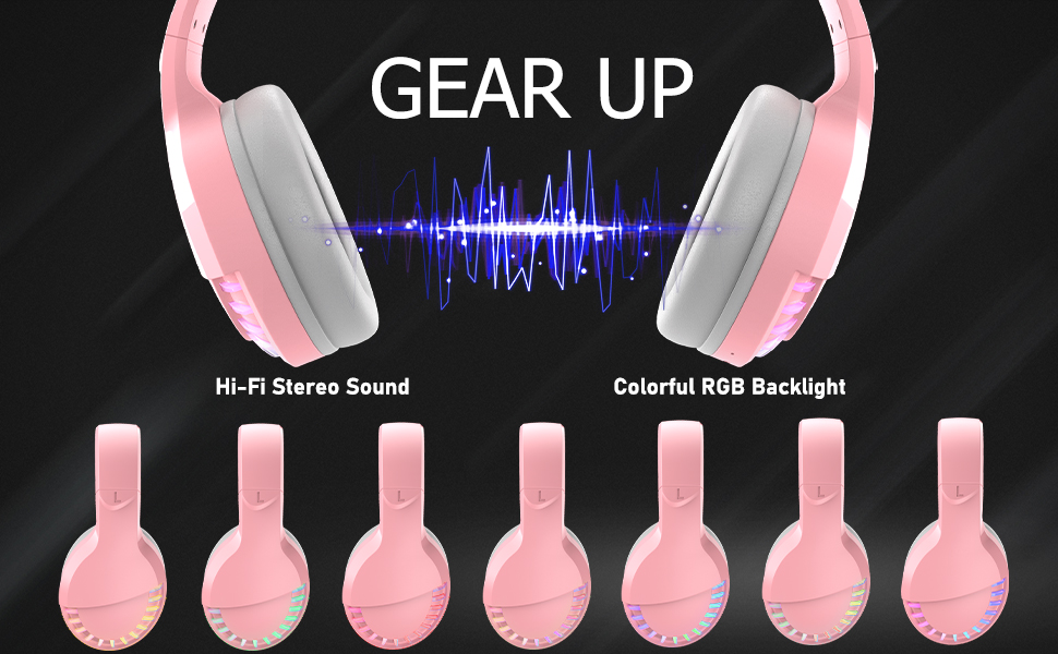 wireless gaming headset with rgb backlight