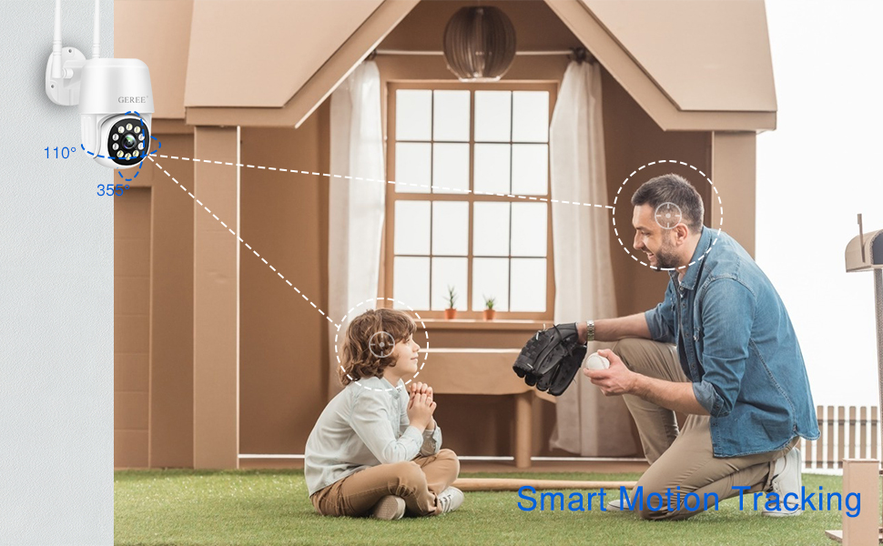 security camera outdoor smart motion tracking