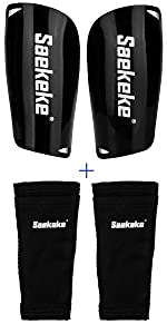 Shin Guards with Sleeves Black