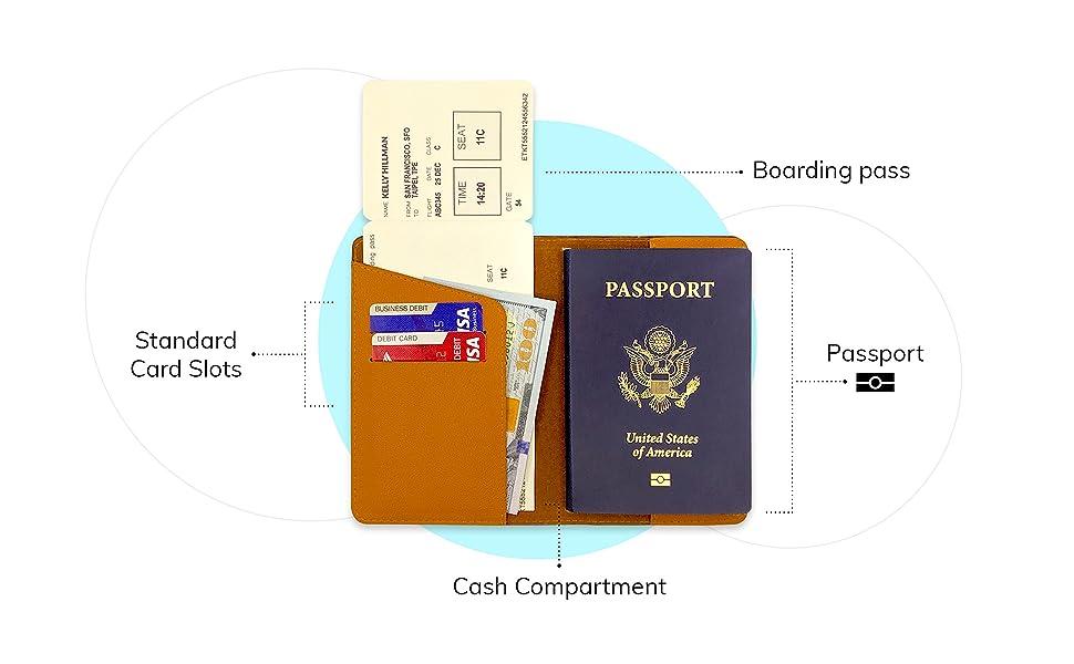 Personalized Sea Shells Genuine Leather Passport Cover