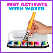 water activated safe face and body painting palette for Halloween Costumes Cosplayers and kids