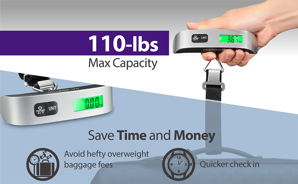 Fosmon Digital Luggage Scale with Temperature Sensor