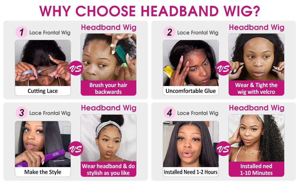 why choose Headband Wig