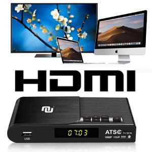 Nunet TV Converter Box Analog to Digital-HD Antenna ATSC Streaming Media Players Top Box Recorder