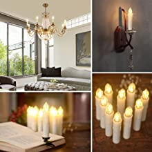 PChero LED Taper Candles for Table Decoration