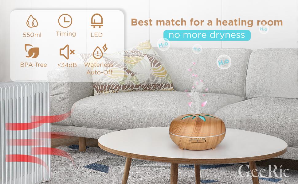 Het aromatherapieapparaat maakt het leven comfortabeler.