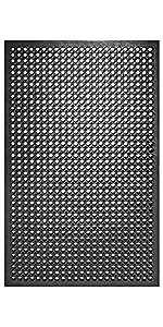 Black Rubber FLoor Mat