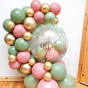 sage green balloons,green balloons