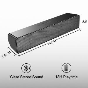 computer speaker bluetooth speaker for pc portable speaker desktop monitor mini pc soundbar aux usb