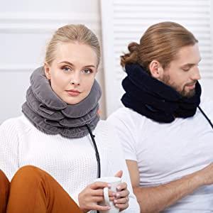 Neck traction, neck traction device, cervical neck traction device, neck brace, neck stretcher