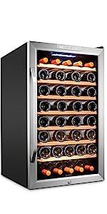 Ivation 51 Bottle Compressor Wine Cooler Refrigerator