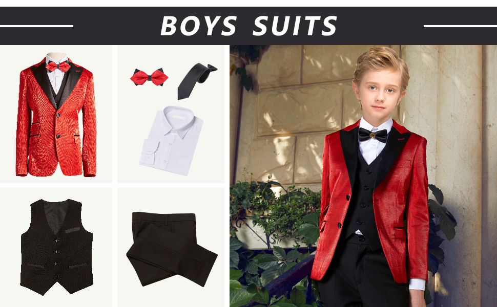 boys red suits boys classic suits