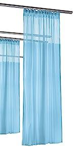 Flat hooks medical curtain