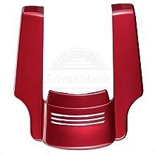 advanblack stretched rear fender extension ember red sunglo extended saddlebags for harley davidson