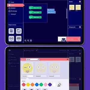Pixel Animation, Block Coding