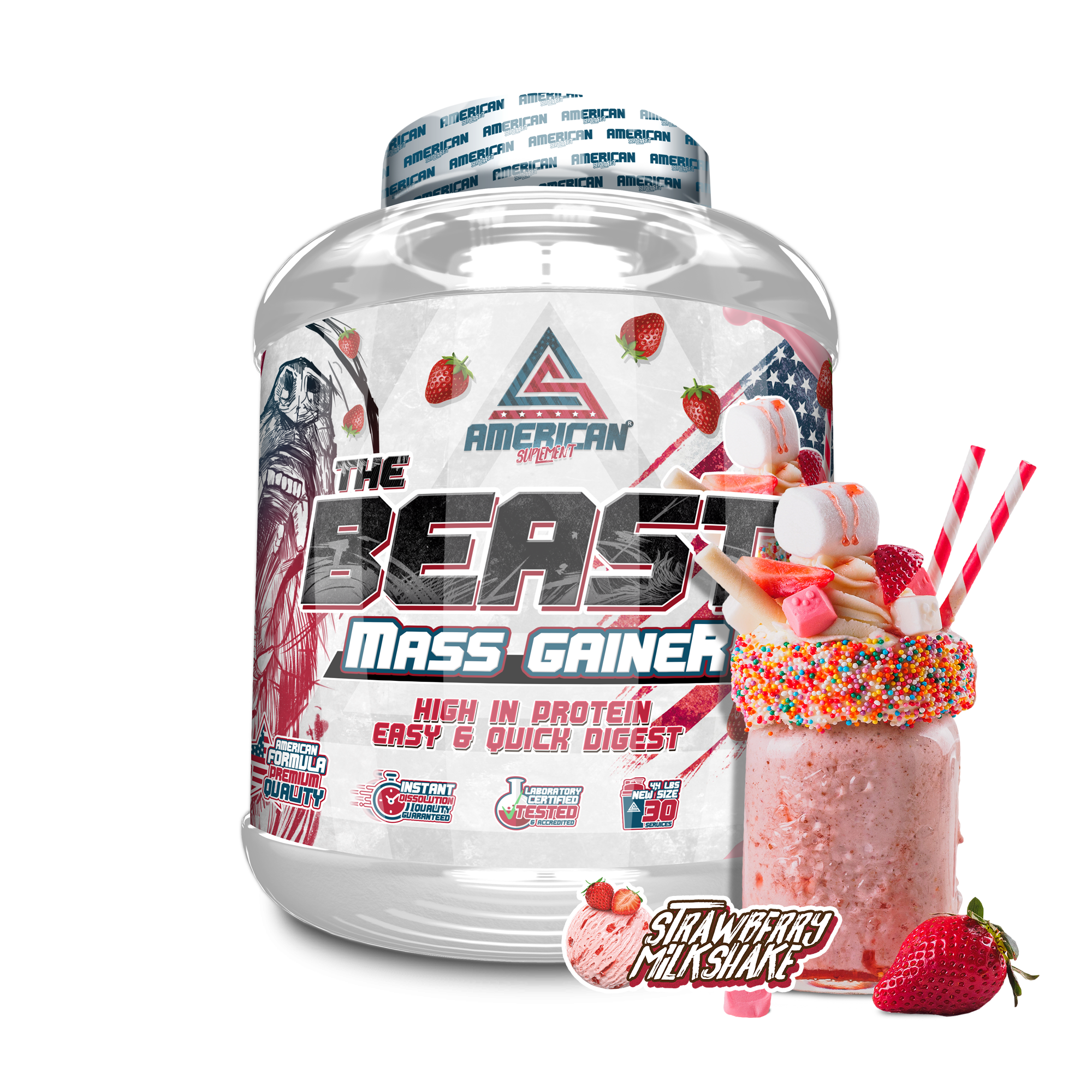 THE BEAST MASS GAINER 2KG, American Suplement, Carbohidrato ...