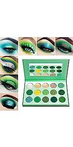 green eyeshadow paletee