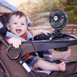 stroller fan clip on baby