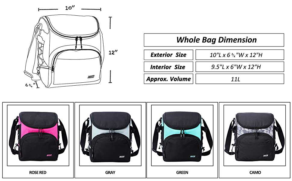 adults insulated cooler bag