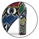 wetkiss Colorful Snakeskin Boots Mid-Calf Boots Thick High Heels Pointed Toe Zipper Slouch Boot