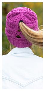 criss cross beanie hat