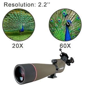 straight spotting scope