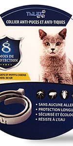 collier antipuce chat thilife parasite parasitaire