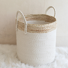 cotton rope storage basket laundry hamper