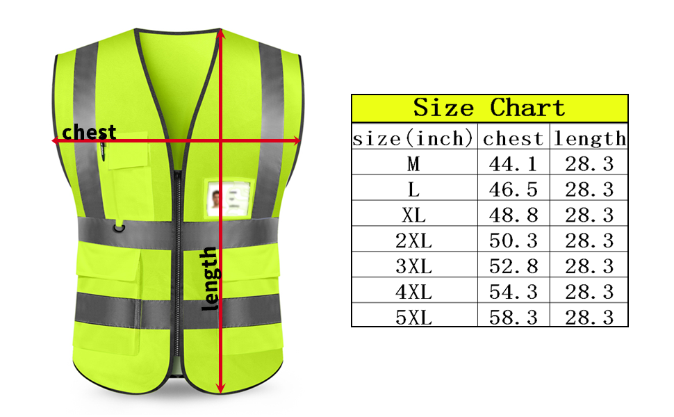High Safety Security Visibility Reflective Vest Gear AWN-123