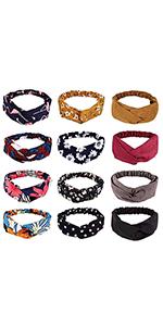 12pcs Boho  Headband Frcolor 10
