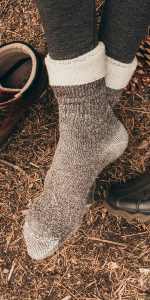 MERIWOOL Wool Blend Socks will keep you warm and cozy while they play in the snow