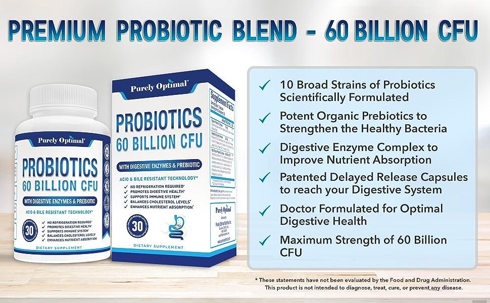 Purely Optimal Probiotics Benefits