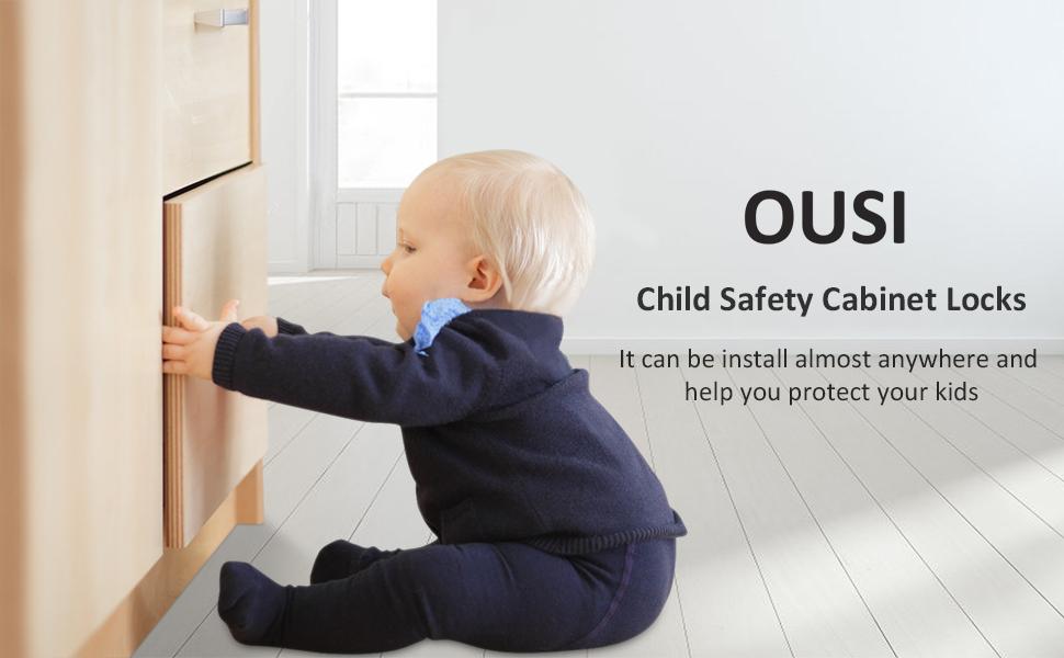 Baby Child Pet Proof Cupboard Door Drawer Lock Catch 14x Child Proofing Kit