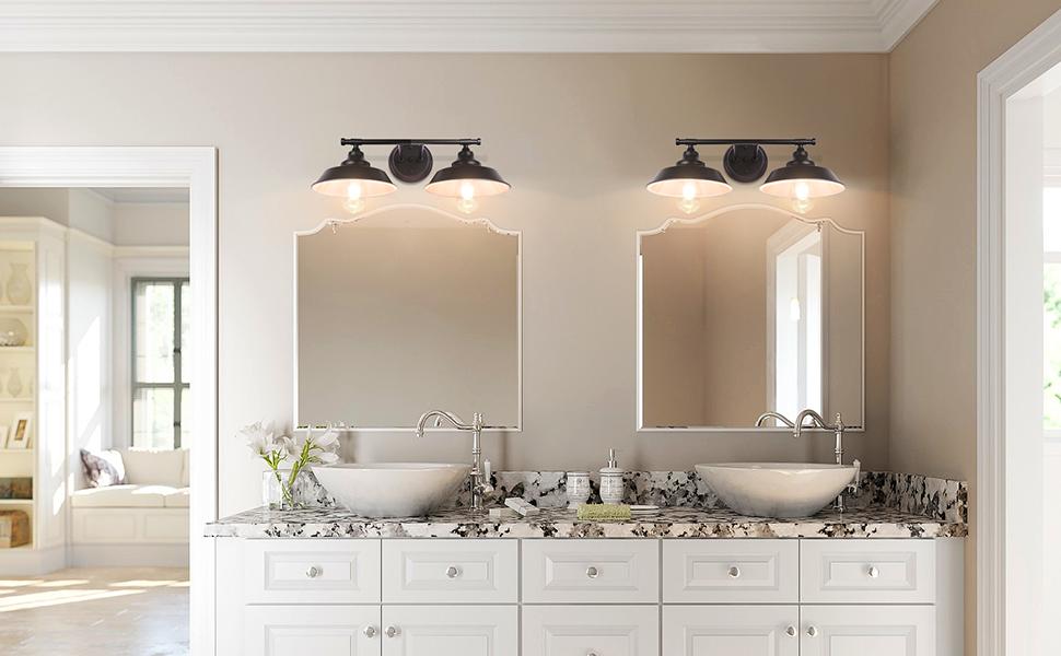 Matte Black Bathroom Light Fixtures