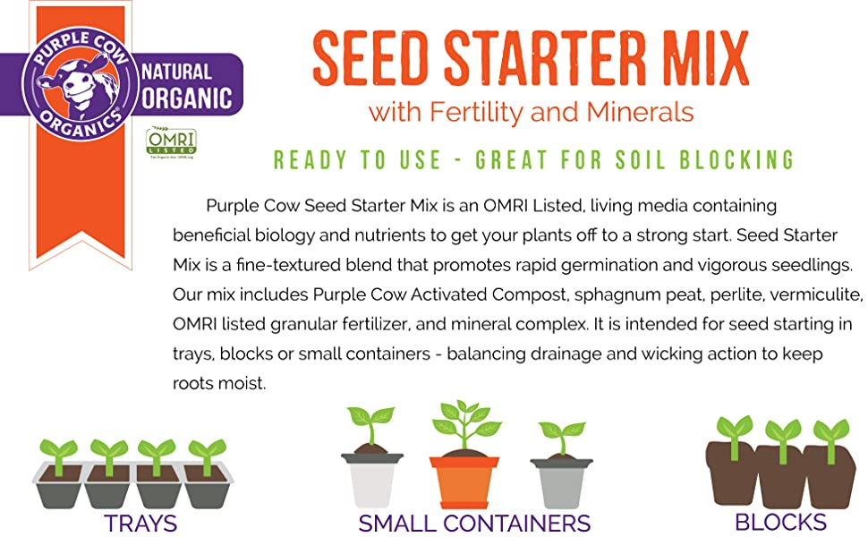 Purple Cow Organics Seed Starter Mix product info