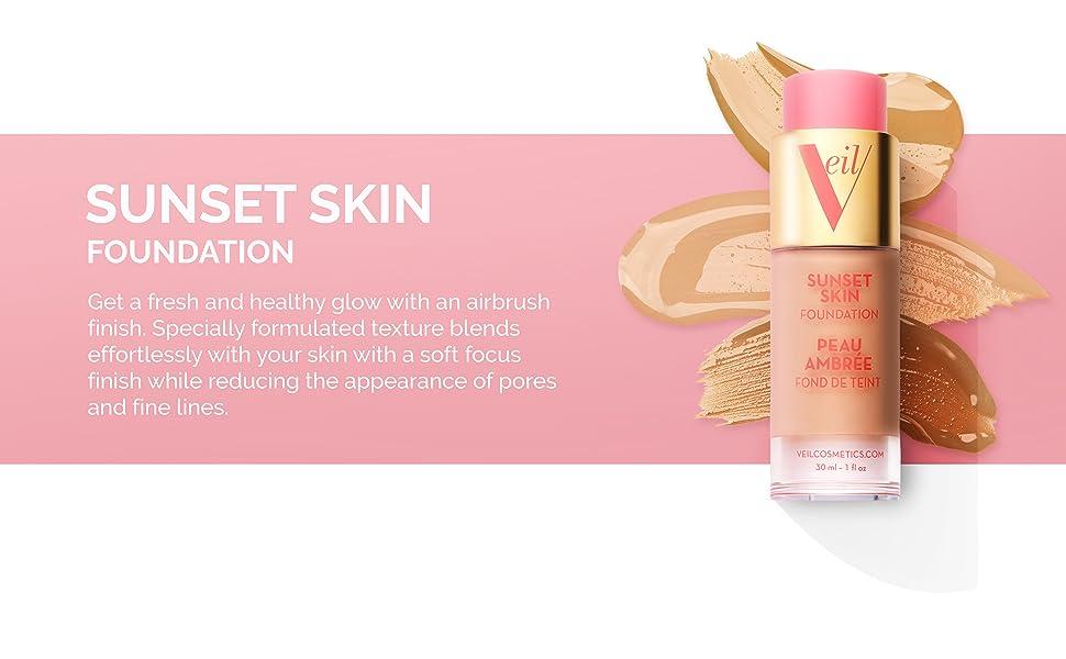 veil, foundation, sunset skin foundation, lightweight makeup