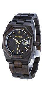 ユニーク シンプル 木製腕時計