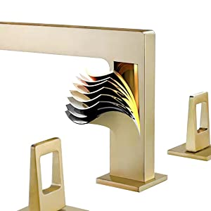 3 hole 2 handle sink faucet gold