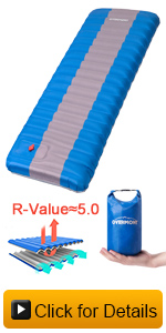 Overmont inflatable sleeping pad